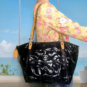 NWOT Coach Leah Patent Leather Tote Bag